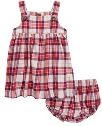 Tea Collection Plaid Flannel Jumper Dress