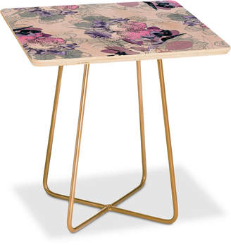 Deny Designs Iveta Abolina Iris Garden Square Side Table