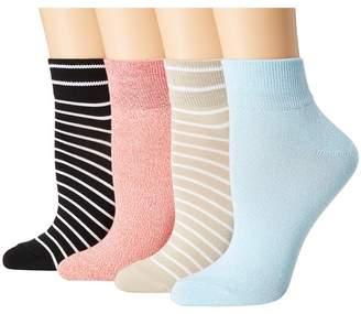 Hue Super Soft Cropped Sock 4-Pair Pack Women's Crew Cut Socks Shoes
