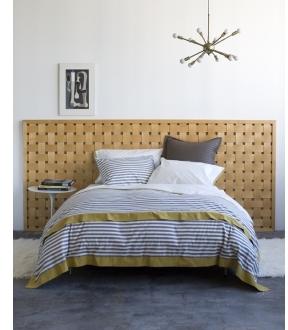 DwellStudio Draper Stripe Ash Bedding