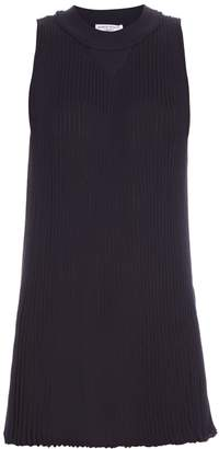 Sonia Rykiel Bi-colour pleated ribbed-knit top
