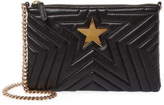 Stella McCartney Stella Star Quilted Leather Clutch