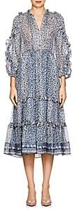 Ulla Johnson Women's Fantine Floral Silk Tiered Dress-Lt. Blue