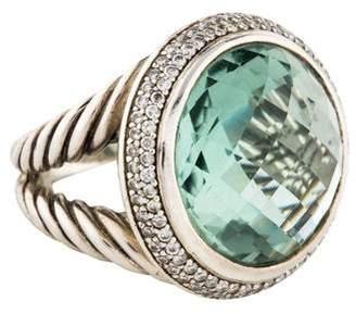 David Yurman Prasiolite & Diamond Cerise Ring