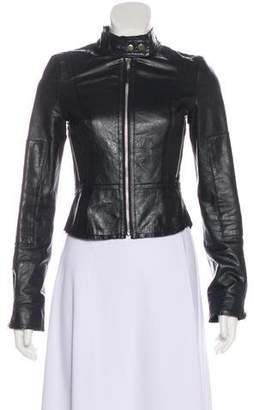 Joie Leather Zip-Up Jacket