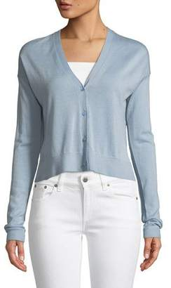 Theory Hanelee Button-Front Cashmere Cardigan