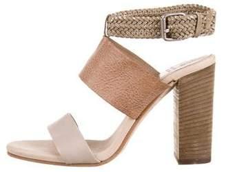 Brunello Cucinelli Leather Ankle Strap Sandals