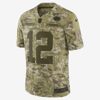 Nike NFL Green Bay Packers Salute to Service Limited Jersey (Aaron Rodgers) Men's Football Jersey