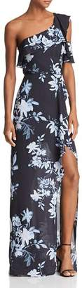 BCBGMAXAZRIA One-Shoulder Floral Gown - 100% Exclusive