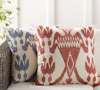 Pottery Barn Printed Ikat Indoor/Outdoor Pillow