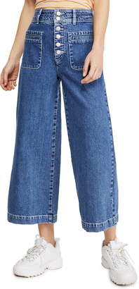 Free People Colette Wide Leg Jeans