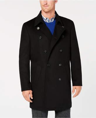 Ryan Seacrest Distinction Men Modern-Fit Black Overcoat