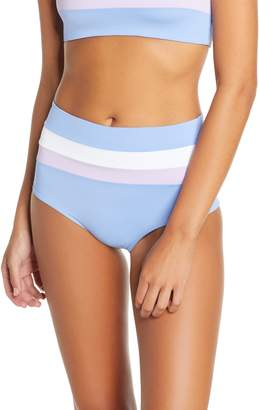 L-Space L Space Portia Reversible High Waist Stripe Bikini Bottoms