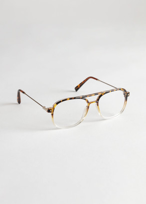 And other stories Tortoise Gradient Aviator Glasses