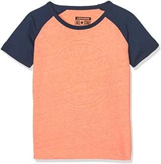 Converse Boy's Chuck Patch Raglan Tee T-Shirt,2-3 Years