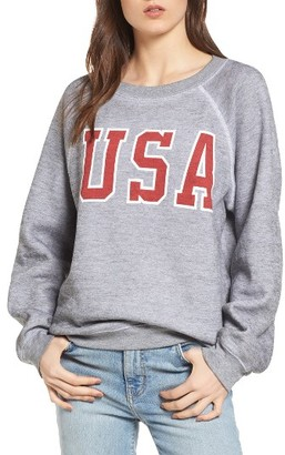 Women's Wildfox Baggy Beach Jumper - Usa Pullover $114 thestylecure.com