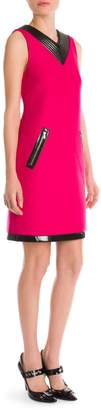 Cédric Charlier V-Neck Zip Pocket Shift Dress