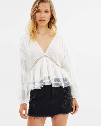Free People Shine Bright Shine Far Mini Skirt