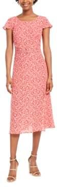 Trixxi Juniors' Belted Midi Dress