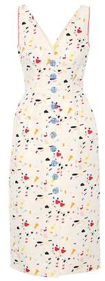 Carolina Herrera Printed cotton-blend dress