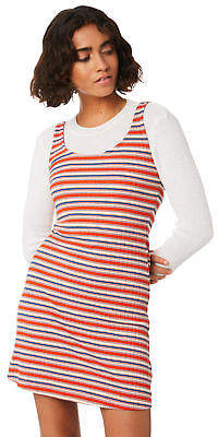 Volcom New Women's Tail Slide Dress Viscose Elastane Tangerine