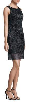 Aidan Mattox Sleeveless Beaded Shift Dress