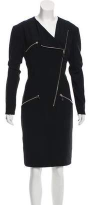 Alexander McQueen Zip-Accented Sheath Dress