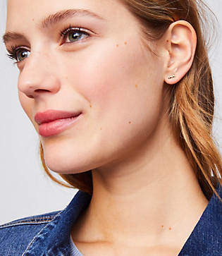 LOFT Crystal Disc Stud Earring Set