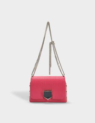 Jimmy Choo Lockett Petite Bag in Cerise Grainy Leather