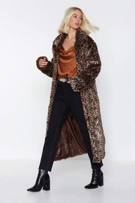 Nasty Gal It's Your Meow-ment Faux Fur Leopard Coat