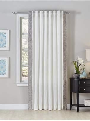 Callisto Home Embroidered Velvet Linen Curtain