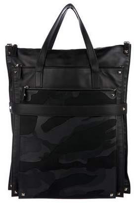 Valentino Rockstud Camo Leather Tote