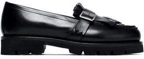 Grenson Buckled Fringed Leather Loafers