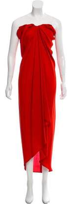 Lanvin Silk Strapless Dress