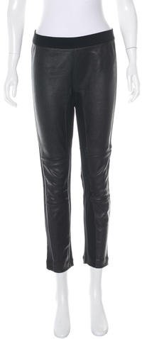 Marc By Marc JacobsMarc by Marc Jacobs Leather-Paneled Mid-Rise Leggings