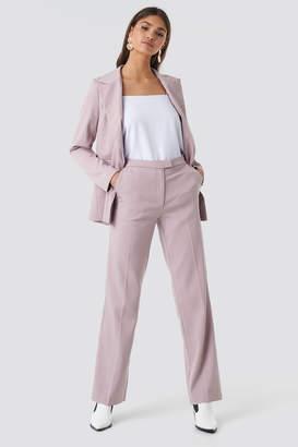 NA-KD Regular Straight Suit Pants Pink