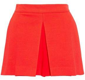 Emilio Pucci Pleated Stretch-Ponte Shorts