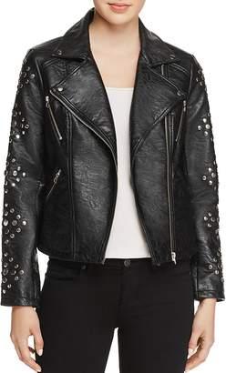 En Créme Studded Faux-Leather Jacket $148 thestylecure.com