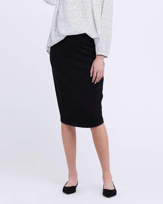 Ripe Maternity Ponte Pencil Skirt