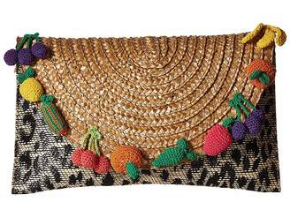 Betsey Johnson Fruit Straw Clutch Clutch Handbags