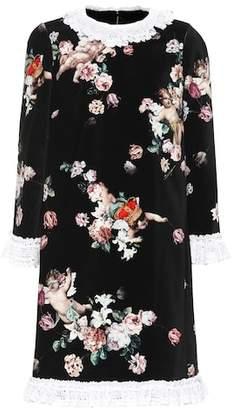 Dolce & Gabbana Floral velvet minidress
