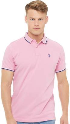 U.S. Polo Assn. Mens Jay Polo Sea Pink