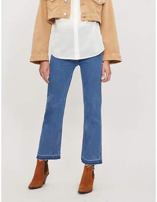 Apiece Apart Marston raw-hem flared jeans