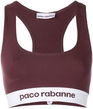 Paco Rabanne racer back logo cropped top