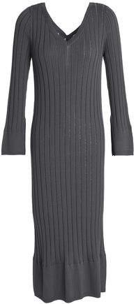 Ribbed-Knit Midi Dress