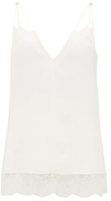 KHAITE Eleanor V Neck Canvas Camisole - Womens - White