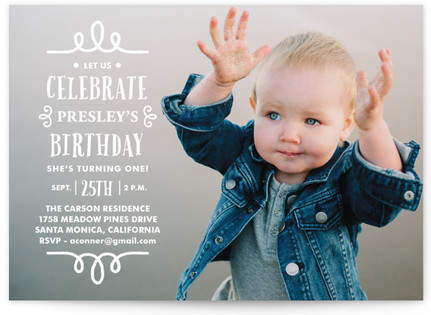 Fancy Day! Children's Birthday Party Invitations