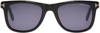 Tom Ford Black Leo Sunglasses $340 thestylecure.com