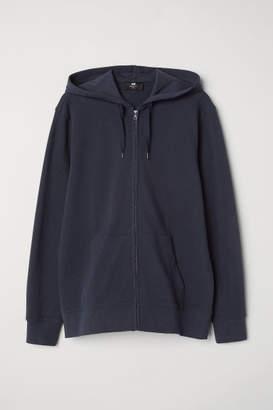 H&M Pique Hooded Jacket - Blue