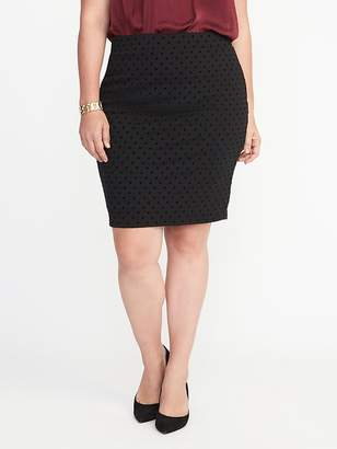 61db1a8ea97 ... Old Navy Patterned Plus-Size Ponte-Knit Pencil Skirt
